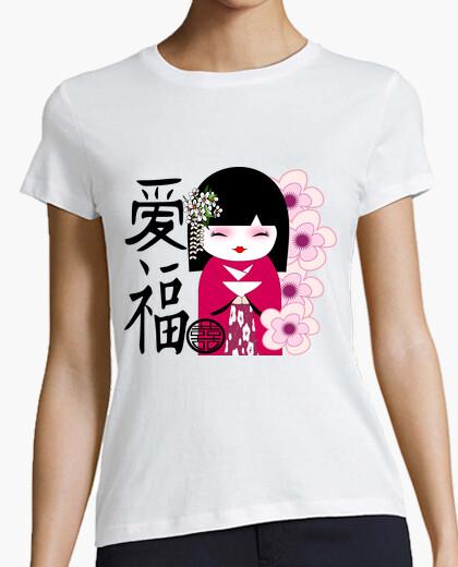 Tee-shirt cooltee kokeshi, poupée japonaise. disponible uniquement en latostadora
