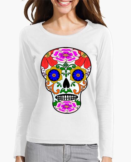 T-shirt cooltee teschio stile messicano. solo disponibile in tostadora