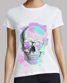 cooltee watercolor skull. toaster