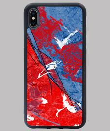 Coque design rouge et bleu