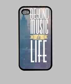 coque iphone 4 / 4s est la vie au-delà