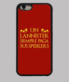 coque iphone 6 - jeu de trônes - un lannister paye toujours ses spoilers