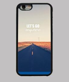"""Coque iPhone 6, noire """"let.s go"""""""