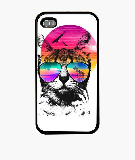 Coque iPhone chat d'été