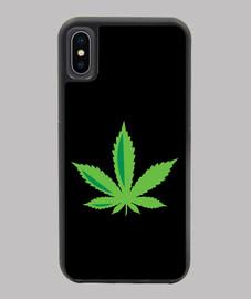 coque iphone x-xs feuille de marijuana