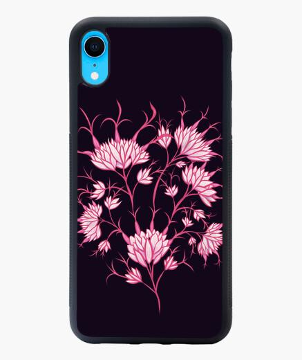 Coque iPhone XR fleurs roses décoratif...