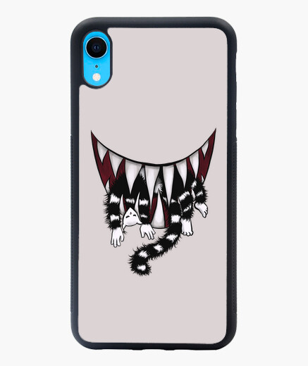 Coque iPhone XR mangeur de chat monstre...
