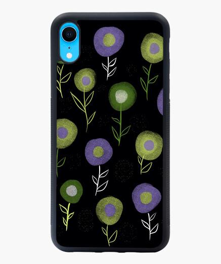Coque iPhone XR motif de fleurs rondes...