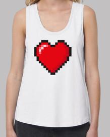 Corazón Pixelado I Love Retro