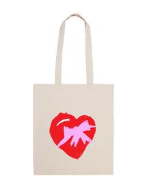 Corazón - Bolsa tela 100 algodón