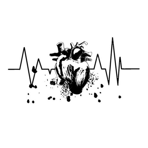 Vectores Corazón En Blanco Y Negro Dibujo De Corazón Formado Por