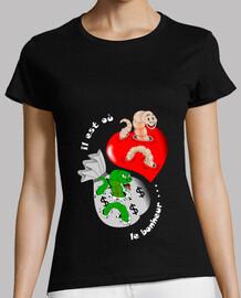 corazón camiseta tiene sus razones dinero ignora mujer
