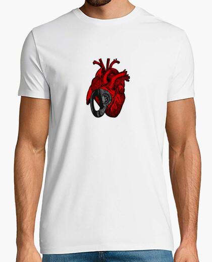 Camiseta corazón chapado