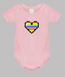 corazón color pixel bebe