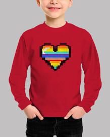 corazón color pixel niño niña