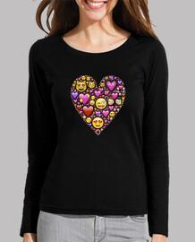 corazón con emojis