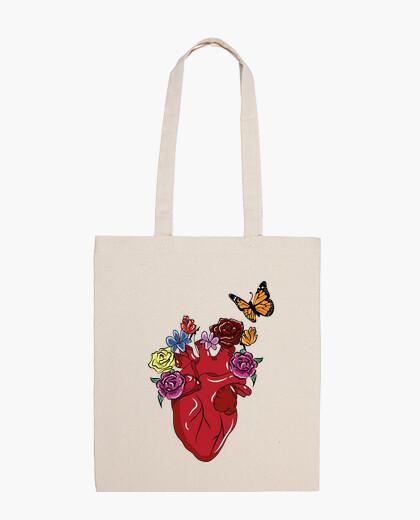 Bolsa Corazón con flores