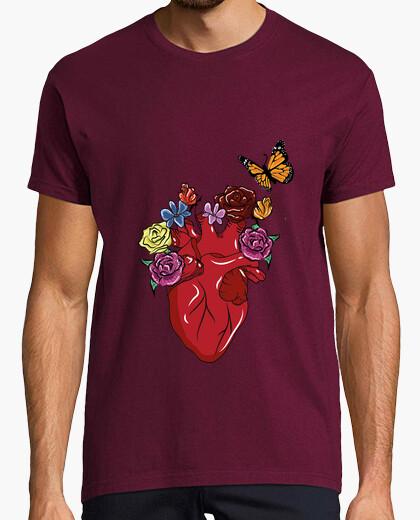 Camiseta Corazón con flores