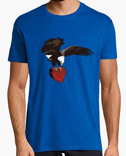 Camiseta corazón de águila
