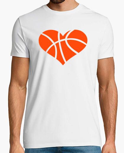 Camiseta corazón de baloncesto