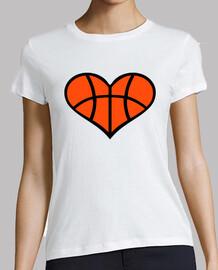 corazón de baloncesto