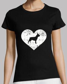 corazón de bulldog francés