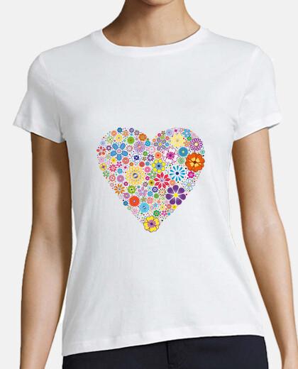 Corazón de flores para mujer