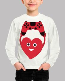 corazón de jugador con gamepad