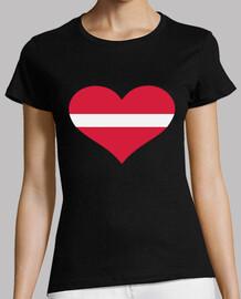 corazón de la bandera de letonia