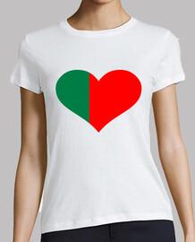 corazón de la bandera de portugal