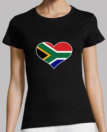 corazón de la bandera de sudáfrica