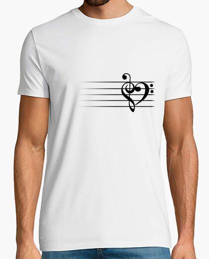 Corazón de la música - hombre camiseta