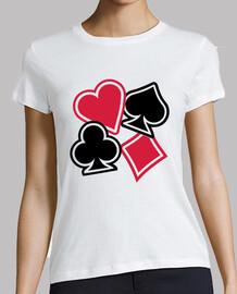 corazón de poker club de diamante de la espada