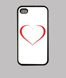 Corazón de trazo fino