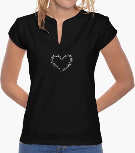 Camiseta Corazón (efecto diamante)
