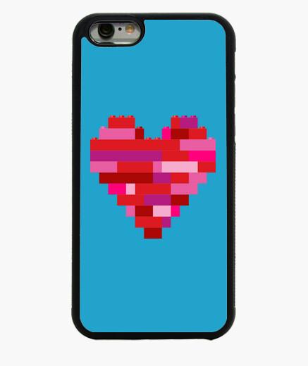 Funda iPhone 6 / 6S corazón en la construcción de ladrillos de juguete