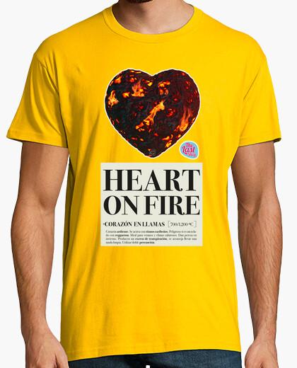 Camiseta CORAZON EN LLAMAS HOMBRE