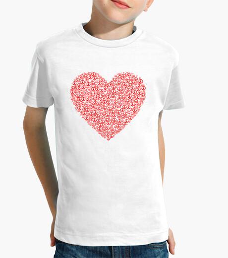Ropa infantil Corazón formado por el símbolo de la paz