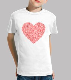 Corazón formado por el símbolo de la paz