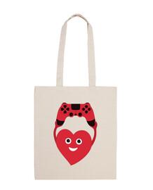 corazón gamer con gamepad
