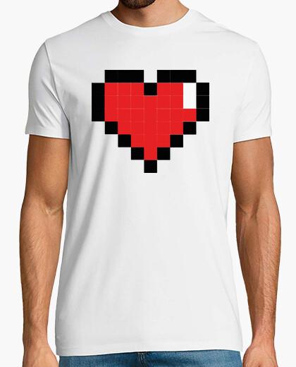 Camiseta Corazon Gamer Pixel