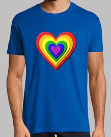 Corazón LGBTI 3D