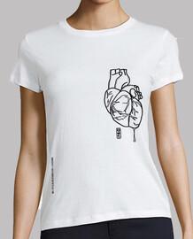 corazón loco camiseta mujer
