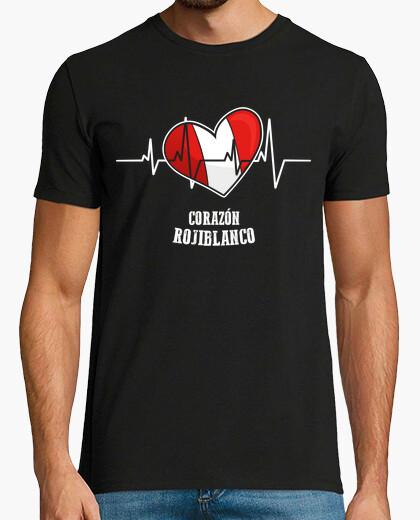Camiseta Corazón Rojiblanco