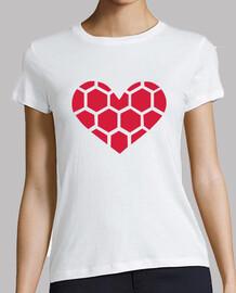 corazón rojo de balonmano