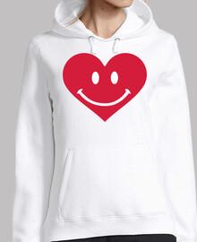 corazón rojo smiley feliz