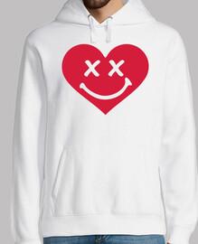 corazón rojo sonriente