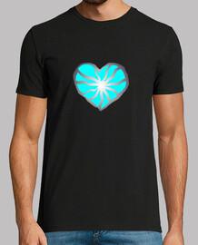 Corazón roto, corazón azul.. Hombre, manga corta, negra, calidad extra