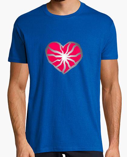Camiseta Corazón roto, Hombre, manga corta, azul royal, calidad extra