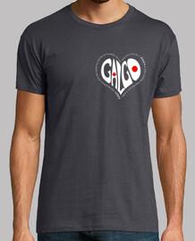 CorazónBlanco-Camiseta Chico MCGris